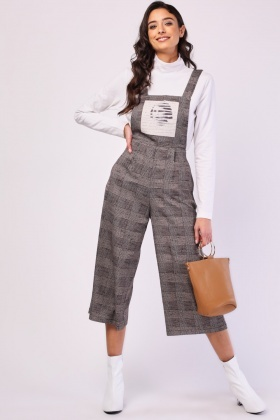 Graphic Printed Pinafore Jumpsuit