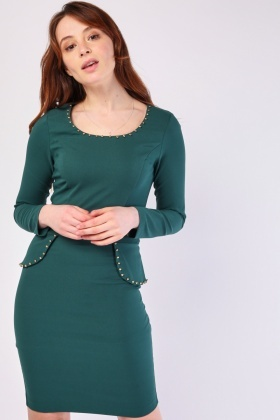 Multi Studded Bodycon Dress