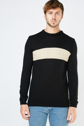 Cable Panel Knit Jumper