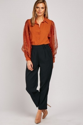 Button Side Peg Trousers