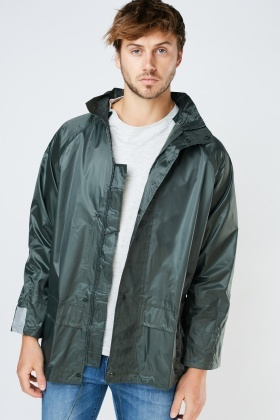 Dark Green Rain Jacket
