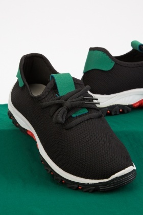 Mens Colour Block Textured Trainers