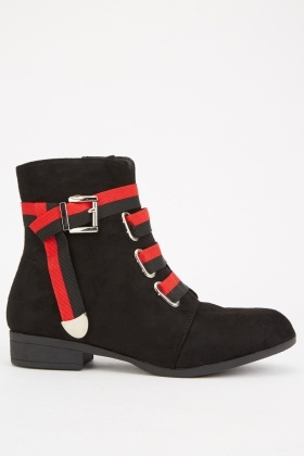 Webbing Strapping Ankle Boots