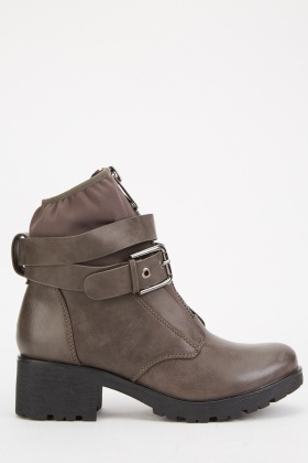 Zipper Buckle Front Ankle Boots $6.60