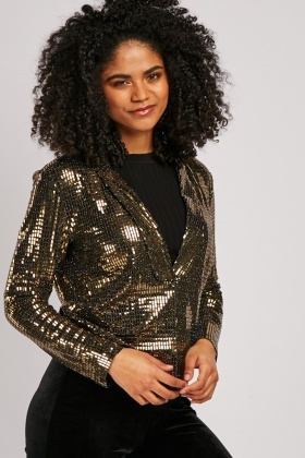 Metallic Sequin Encrusted Blazer