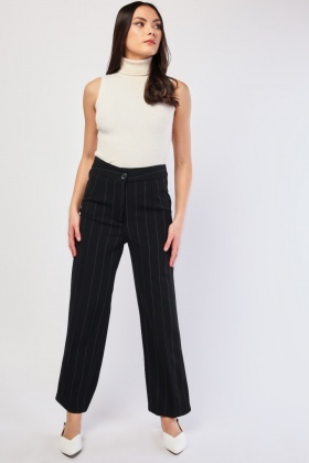 Pin Striped Straight Leg Trousers