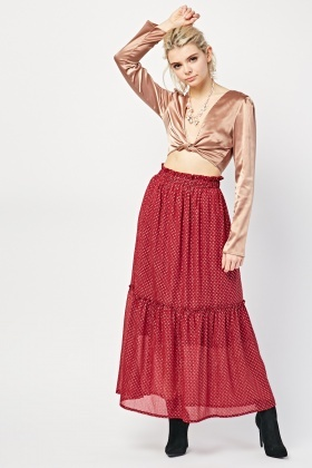 Metallic Maxi Rara Skirt