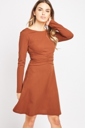 Ruched Waist Panel Dress