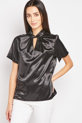 Twisted Neck Shimmery Top