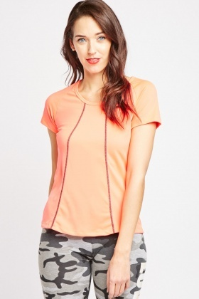 Overlocked Detail Sports Top