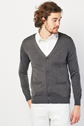 Fine Knitted Button Front Cardigan