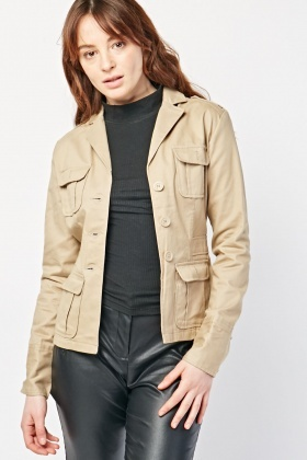 Functional Pocket Feature Utility Jacket