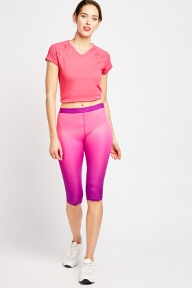 Ombre Sports Capri Leggings