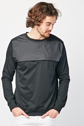 Contrasted Panel Sweatshirt