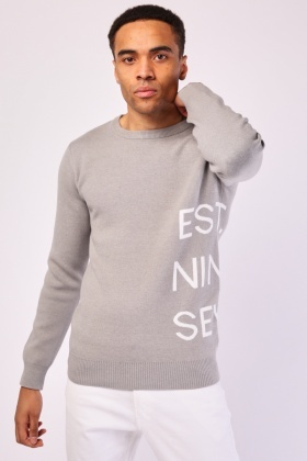 Logo Side Knit Jumper
