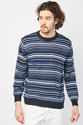 Multi Stripe Knit Jumper