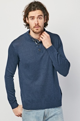 Ribbed High Neck Knitted Jumper