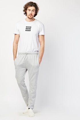 Straight Cut Jogging Bottoms