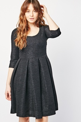 Textured Box Pleated Dress