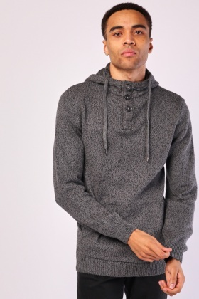 Chunky Speckled Hooded Jumper