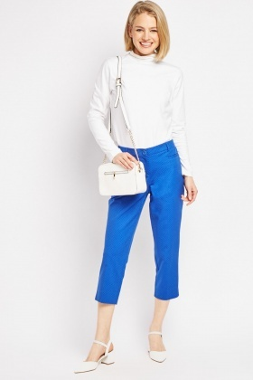Dotted Straight Cut Cigarette Trousers