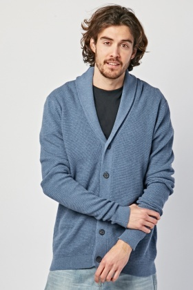 Shawl Collar Knit Cardigan