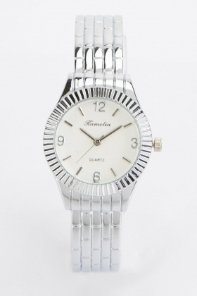 Bangle Style Round Face Watch