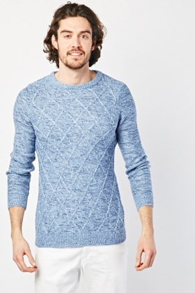 Diamond Pattern Speckled Jumper