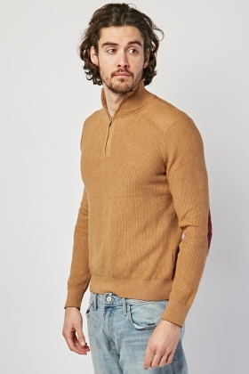 Elbow Patch Sleeve Jumper