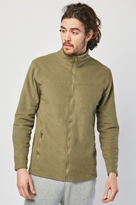 Poly Fleece Zip Up Jacket