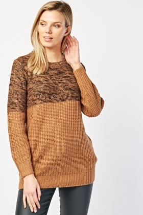 Speckled Two Tone Jumper