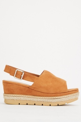 Suedette Wedge Heel Sandals