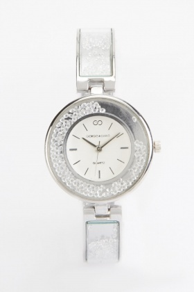 Gem Strap Round Face Watch