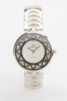 Geometric Pattern Face Watch