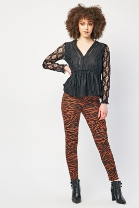 Tiger Printed Jeans
