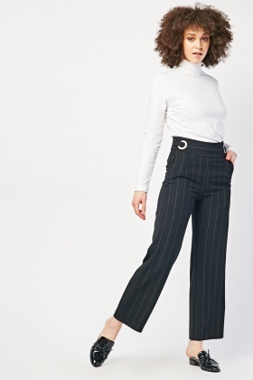 O-Ring Pinstripe Trousers