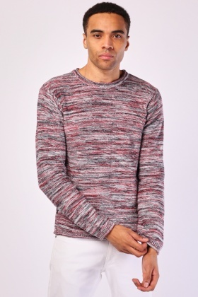 Speckled Basic Knit Jumper