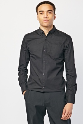 Round Hem Button Up Shirt