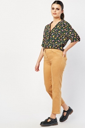 Relaxed Straight Fit Trousers