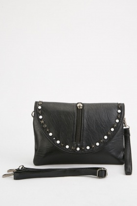 Studded Textured Clutch Bag