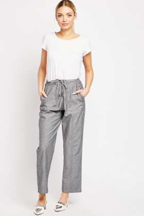Straight Cut Denim Trousers