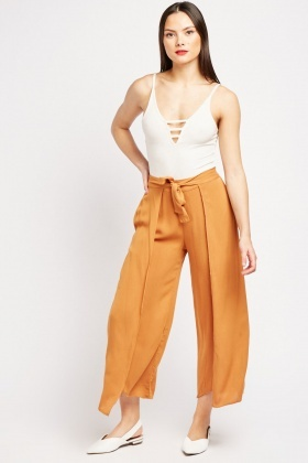 Plain Wide Leg Culottes