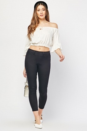 Skinny Fit Black Jeggings