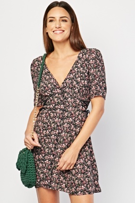 Ditsy Floral Print Mini Dress