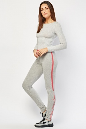 Striped Side Speckled Joggers