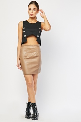 Zipper Insert Mini Skirt