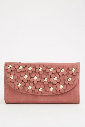 3D Flower Embellished Purse