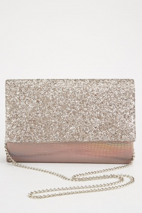 Glittery Chain Strap Clutch Bag $6.40