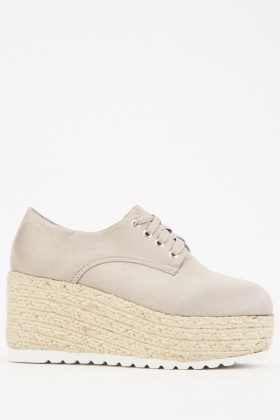Grey Suedette Wedge Shoes $6.40