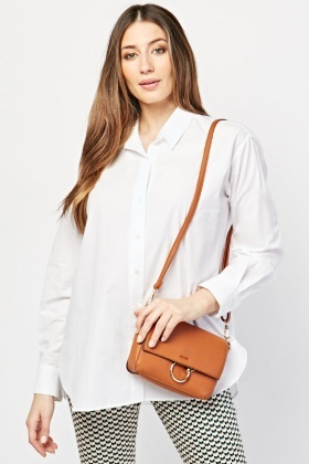 Long Sleve Plain White Shirt